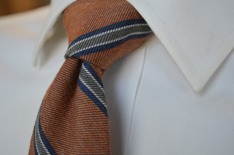 Crosby Stripe Tie Rust
