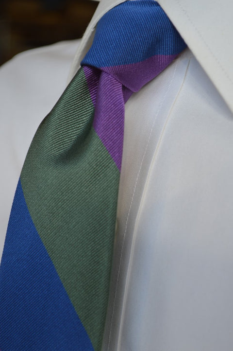 Harrison Striped Tie Purple
