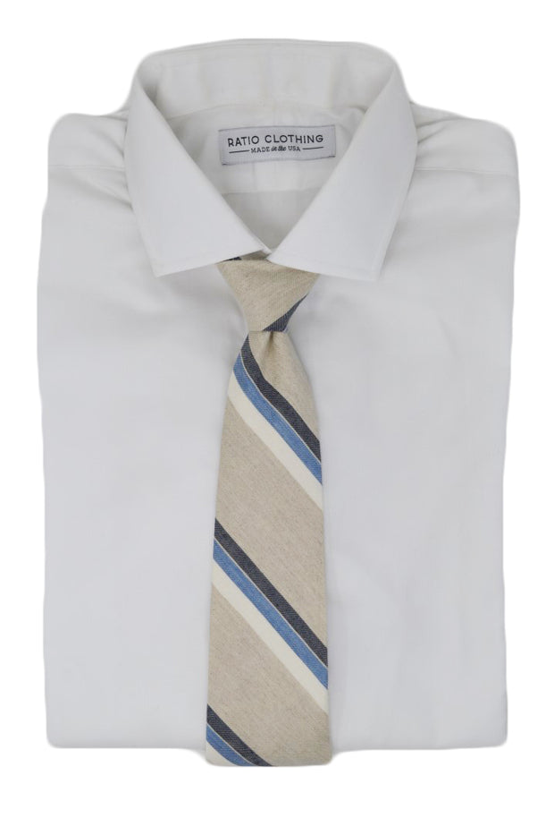 Hamden Natural Stripe Tie