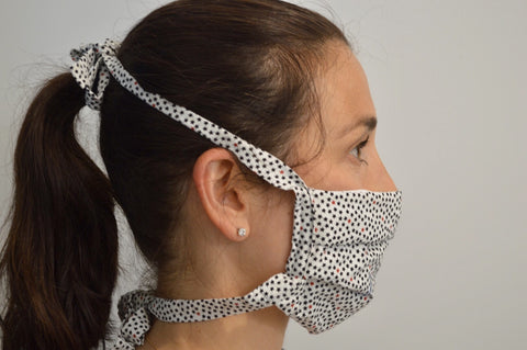 Stars Reusable Face Mask With Cotton Fabric Straps
