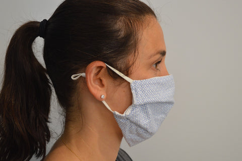 Geometric Reusable Face Mask With Elastic Straps