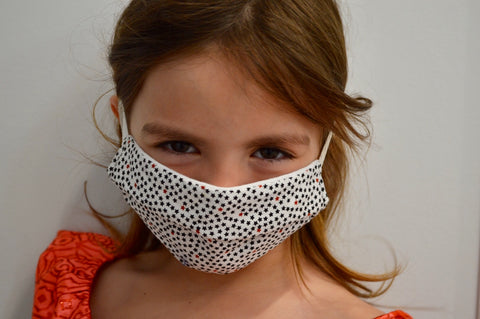 Kids Stars Reusable Face Mask With Elastic Straps
