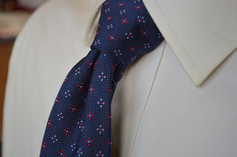 Ingram Foulard Tie Navy/Red
