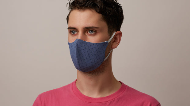 Blue Foulard Face Mask