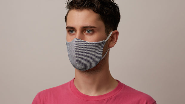 Seersucker Face Mask