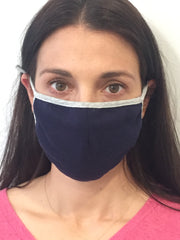 Navy Solid Reusable Face Mask (3 Pack)
