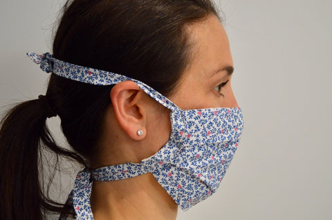 Willow Reusable Face Mask With Cotton Fabric Straps