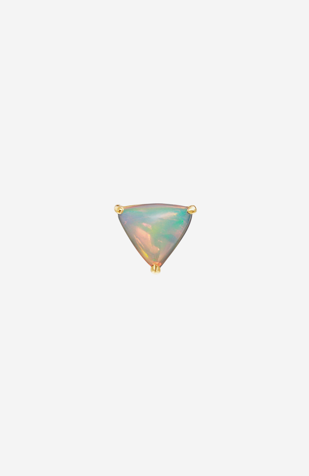 Yellow Gold Crystal Opal Stud Earrings