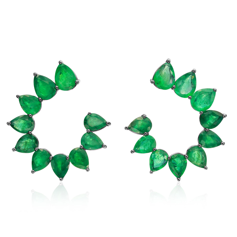 Emerald Pearshape Earrings