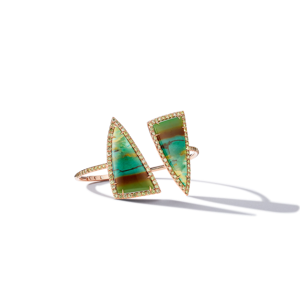 Tree Opal And Green Diamond Bangle