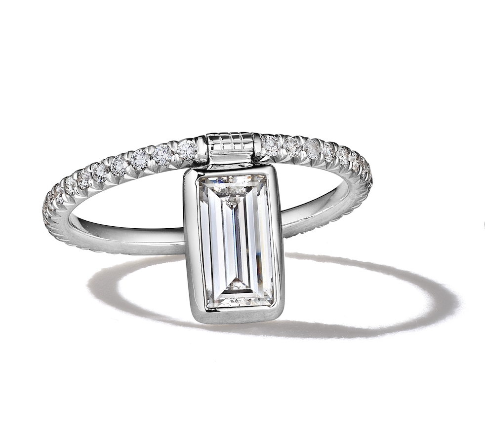 Baguette Diamond Flip Ring