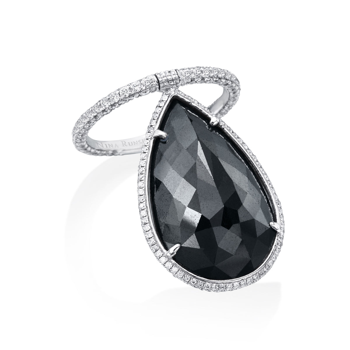 Black Diamond and Diamond Flip Ring