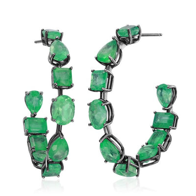 Emerald Mixshape Earrings