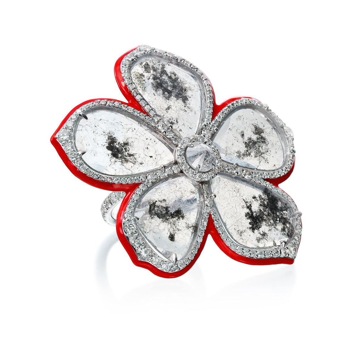 Phoenix Slice Diamond Flower Ring