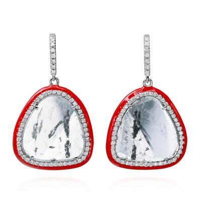 Phoenix Slice Diamond Drop Earrings