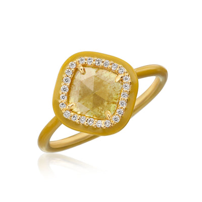 Phoenix Yellow Slice Diamond Ring