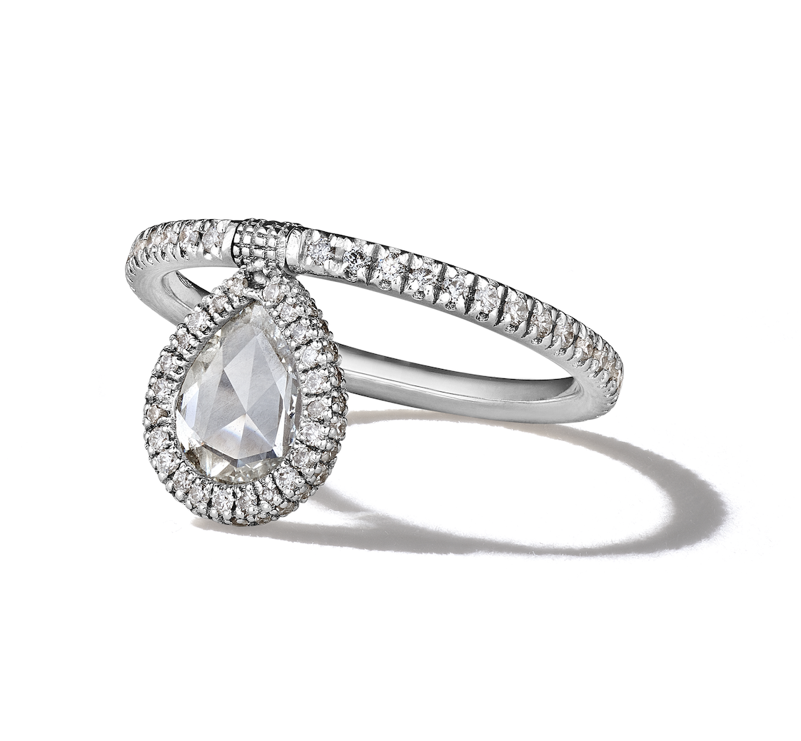 Rosecut Diamond Flip Ring
