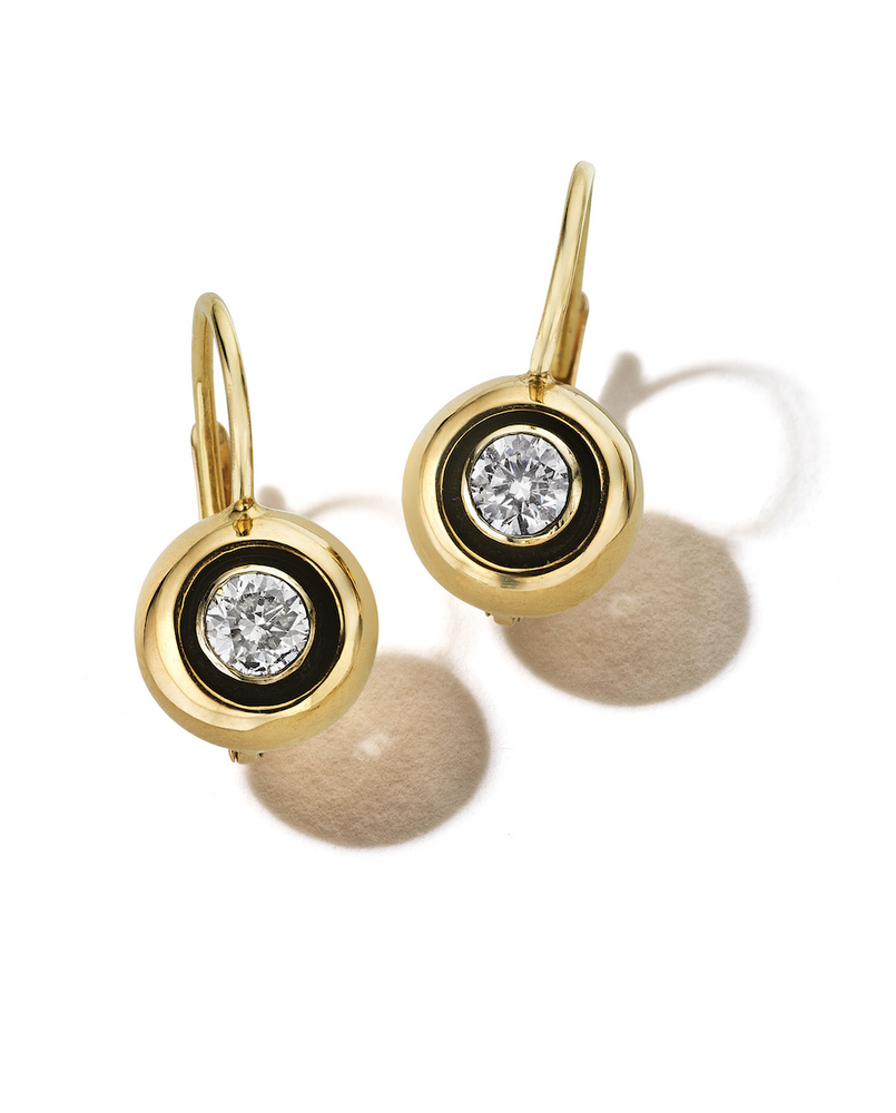 All That Is Round Brilliant Cut Diamond Earrings