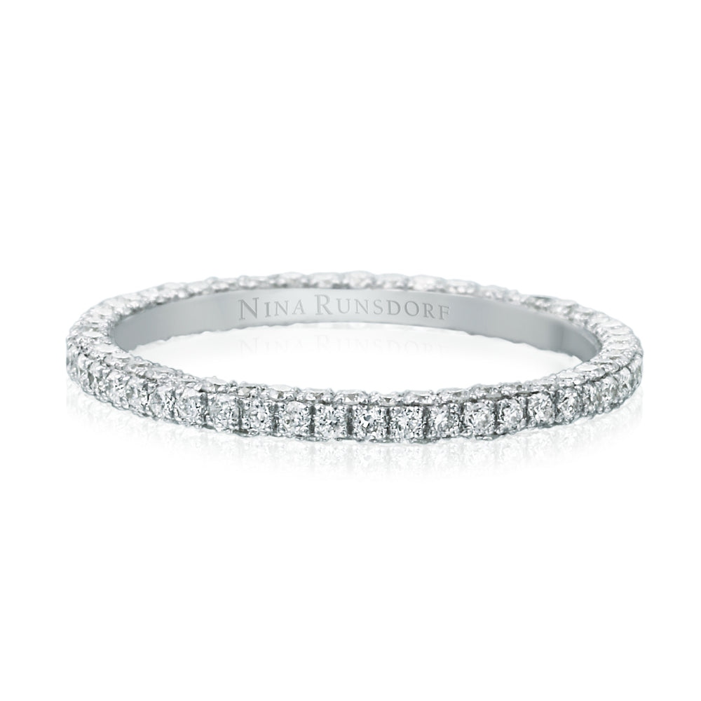 Three Row White Gold Eternity Band