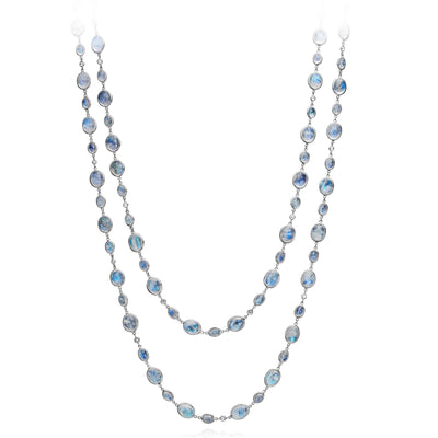 Clair de Lune Moonstone and Diamond Necklace - Nina Runsdorf