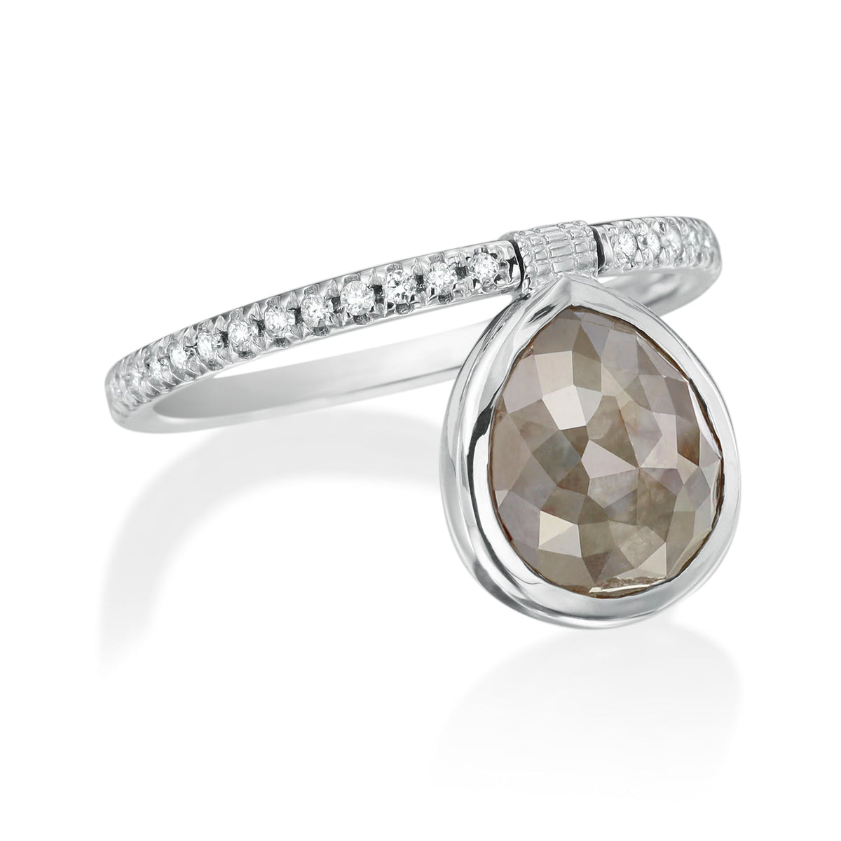 Organic Gray Diamond Flip Ring - Nina Runsdorf