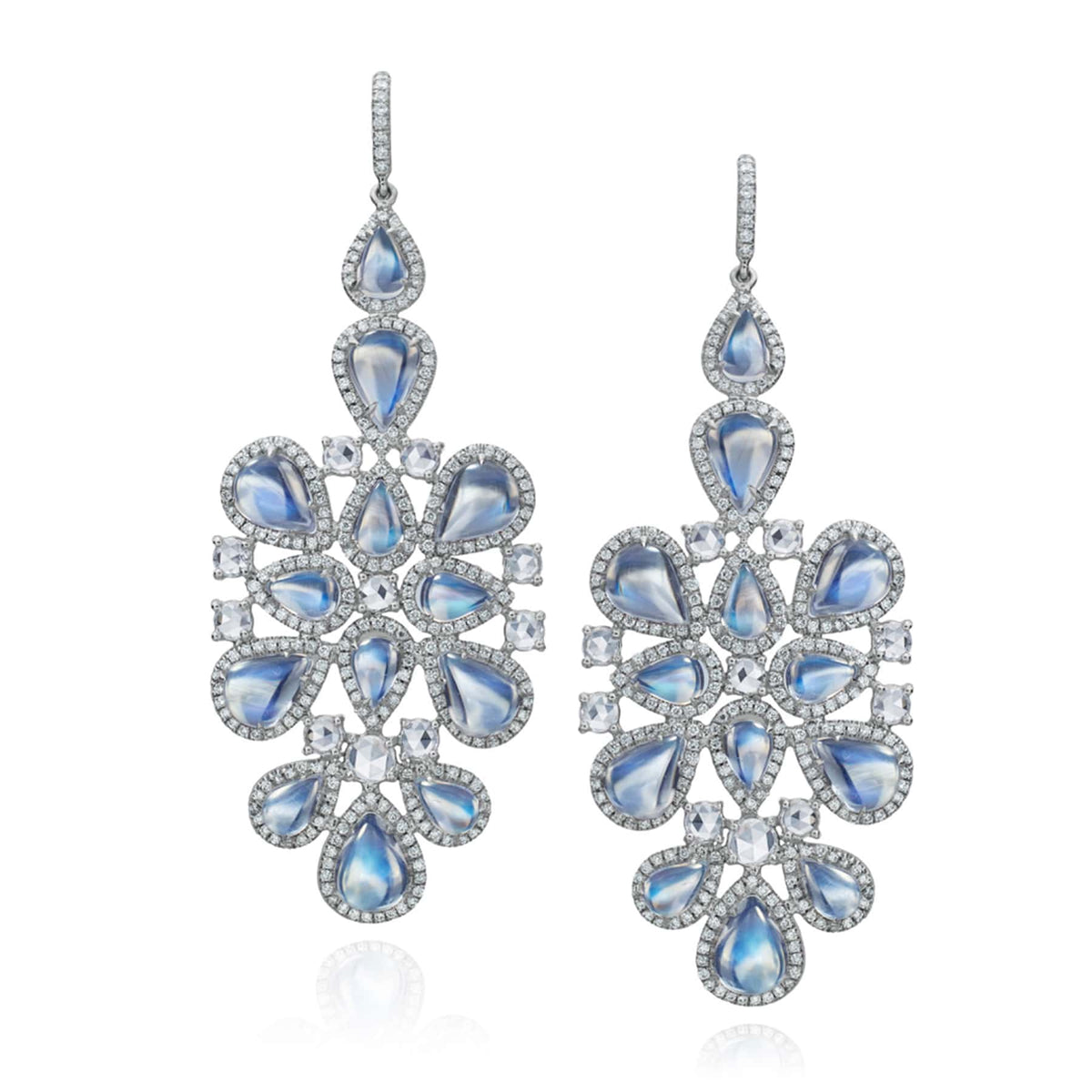 Clair de Lune Moonstone Chandelier Earrings - Nina Runsdorf