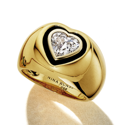 All That Is Heart Shape Diamond Pinky Ring