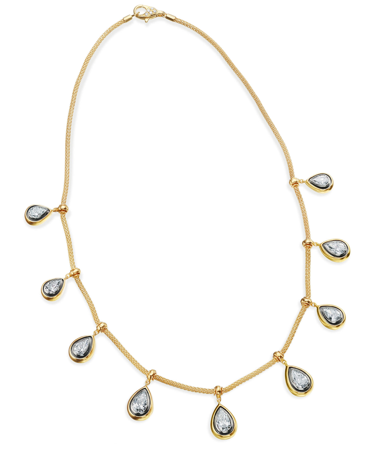 All That Is Pearshape Diamond Necklace
