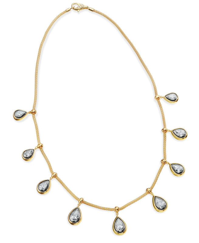 Pearshape Diamond Necklace