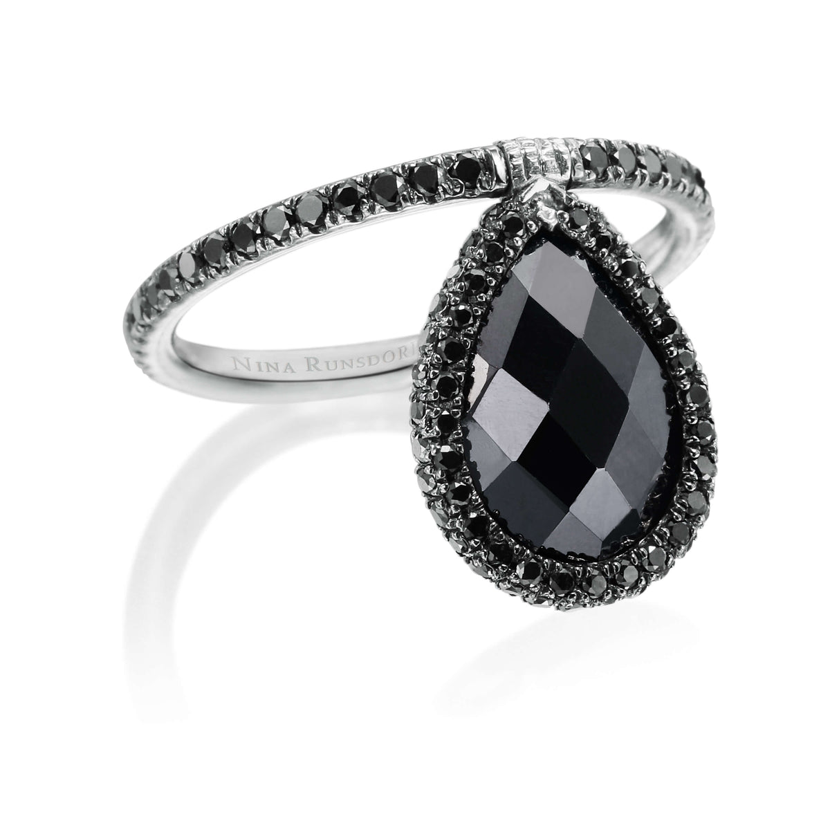 Medium Black Spinel Flip Ring - Nina Runsdorf