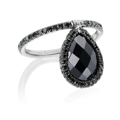Medium Black Spinel Flip Ring