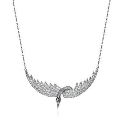 Diamond Bird Necklace
