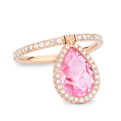 Medium Pink Topaz Flip Ring - Nina Runsdorf