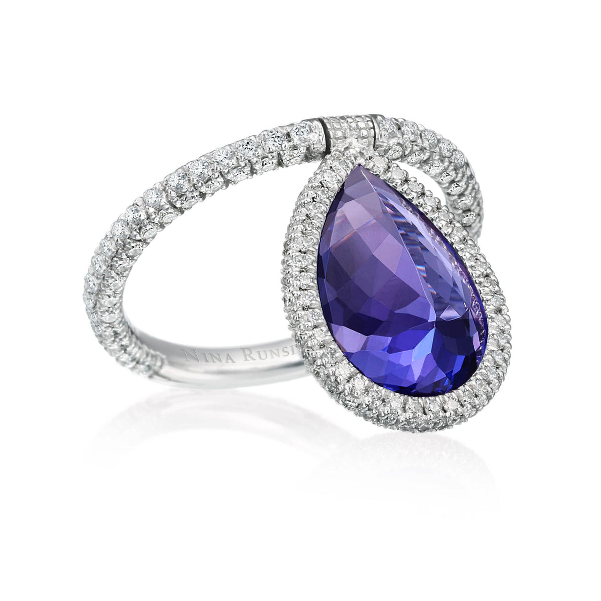 Tanzanite and Diamond Flip Ring