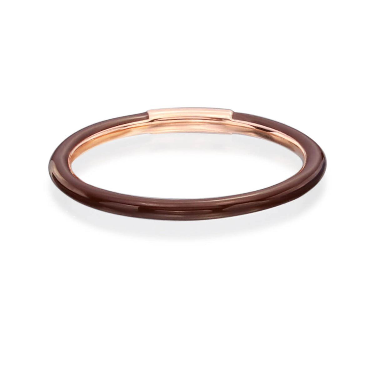Enamel Band in Chocolate Brown - Nina Runsdorf