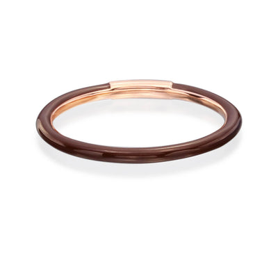 Enamel Band in Chocolate Brown