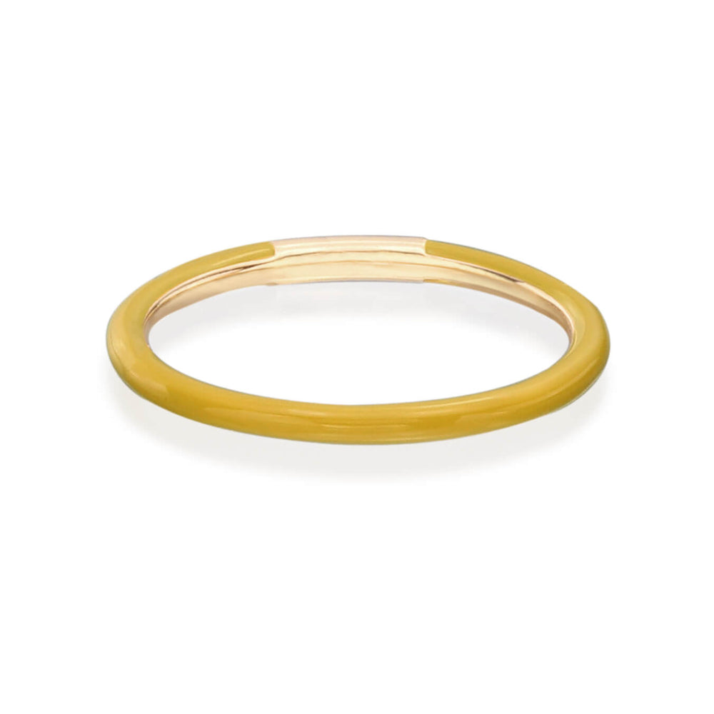 Enamel Band in Mustard Yellow - Nina Runsdorf