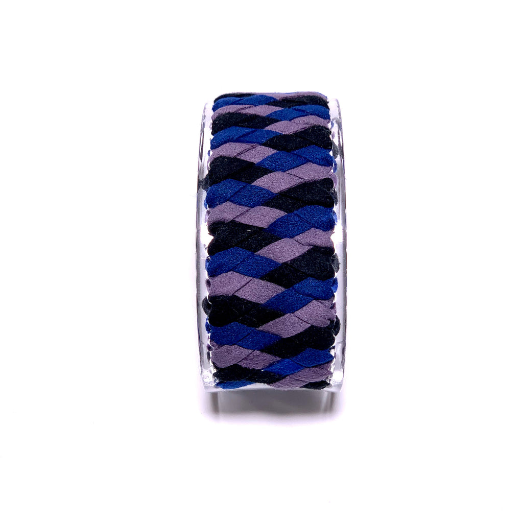 BRAIDED BANGLE (Acrylic & suede)-編み込みバングル-