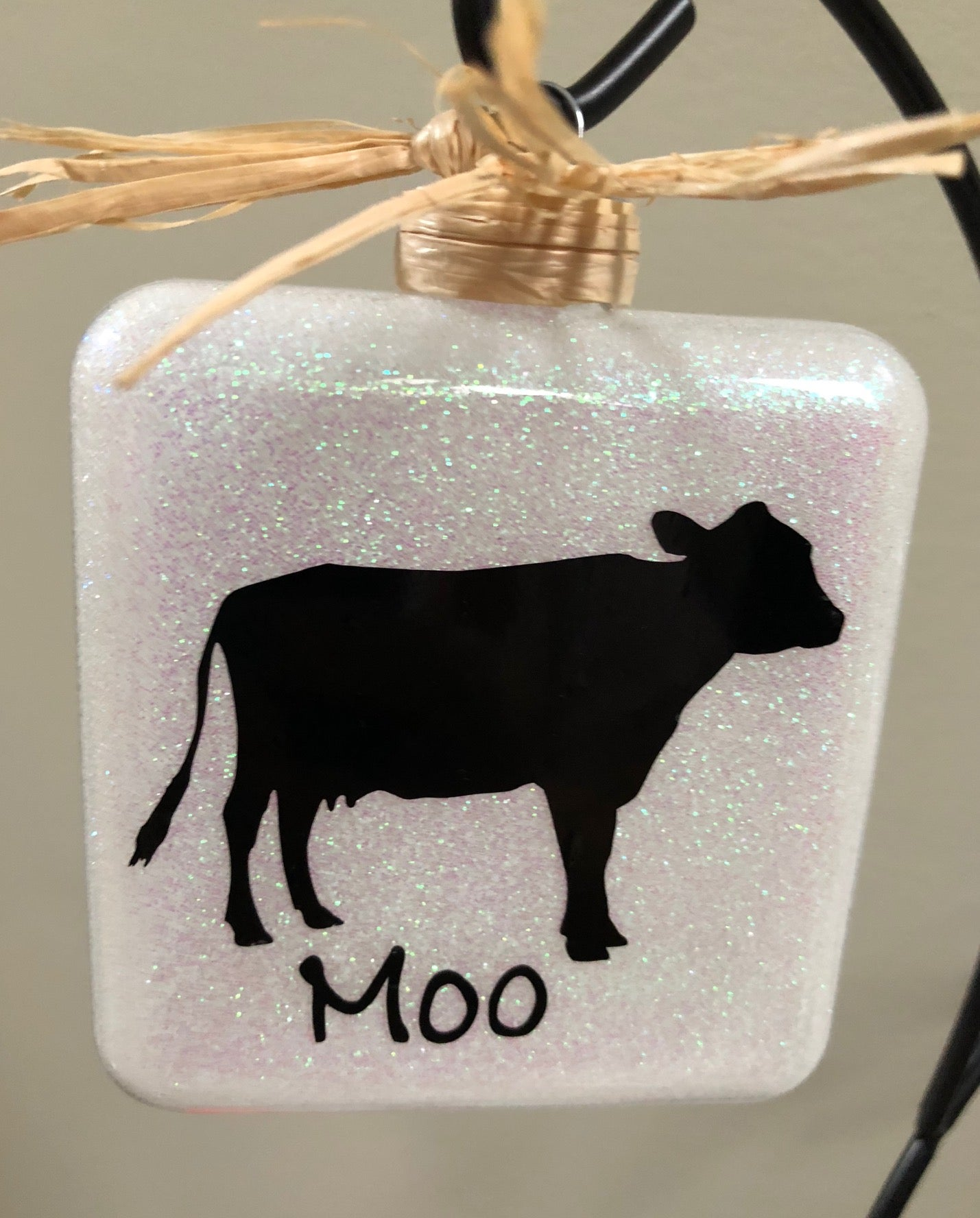 "Cow ""Moo"" Square Ornament"