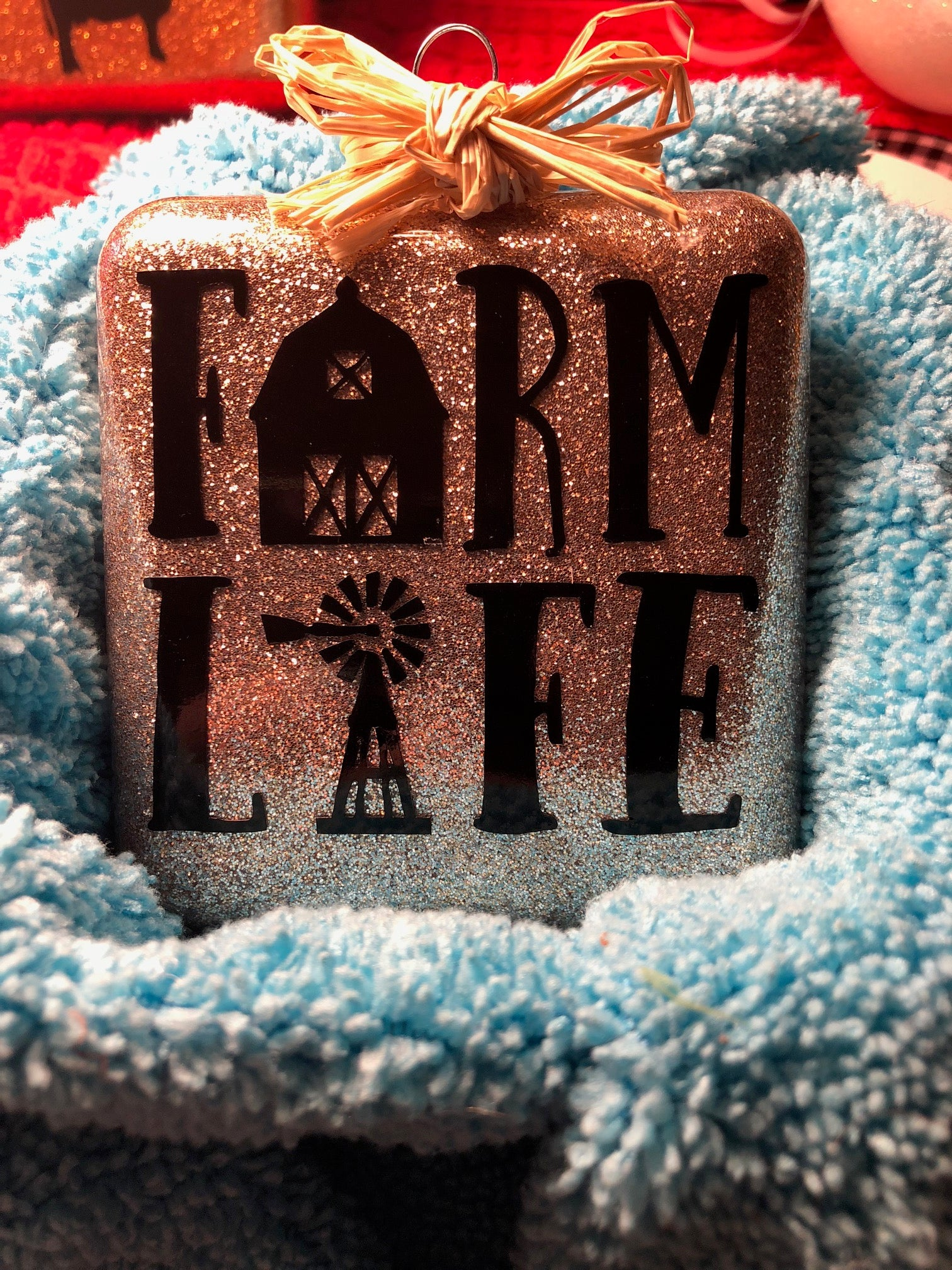 Farm Life Square Ornament