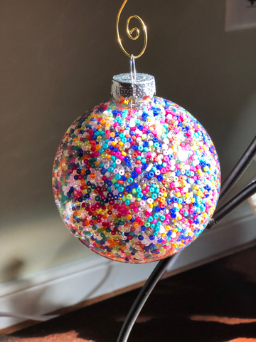 Seed Bead Rainbow Ornament