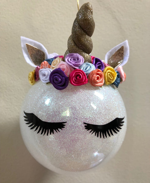 Small Whimsy Unicorn Ornament