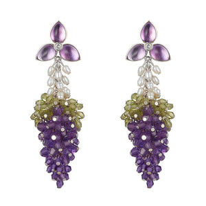 Dolce Vita Earrings Amethyst by Tina Ashmore Luxury Jewelry