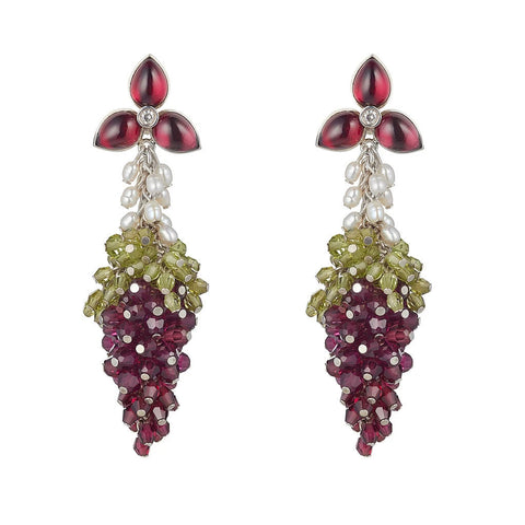 Dolce Vita Earrings Rhodolite Garnet by Tina Ashmore Luxury Jewelry