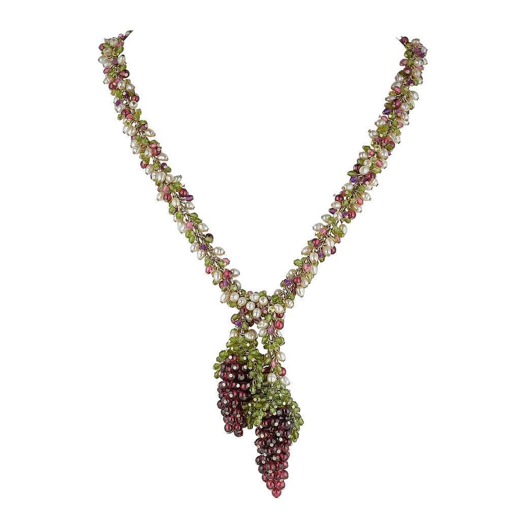 Fruit of the Vine Necklace by Tina Ashmore Luxury Jewelry