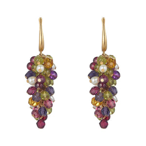 Frutti D'Oro Grape Earrings by Tina Ashmore Luxury Jewelry