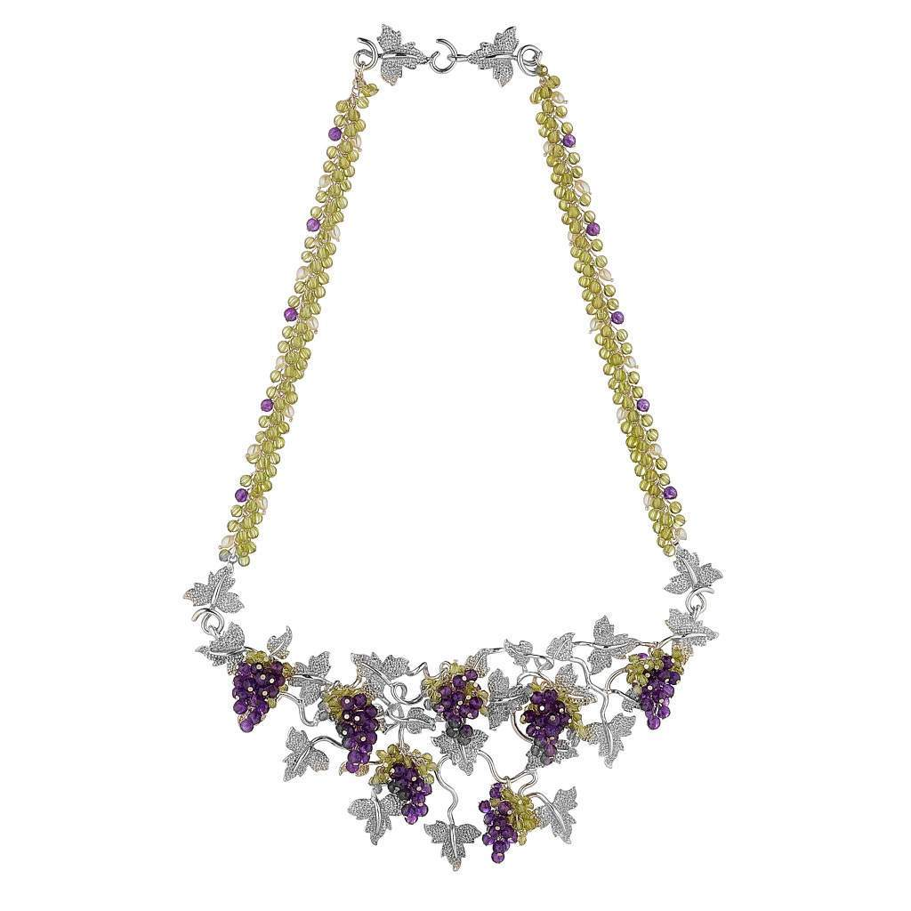 Grapevine Necklace by Tina Ashmore Luxury Jewelry