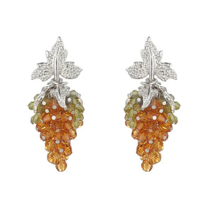 Tuscany Earrings Citrine and Peridot by Tina Ashmore Luxury Jewelry