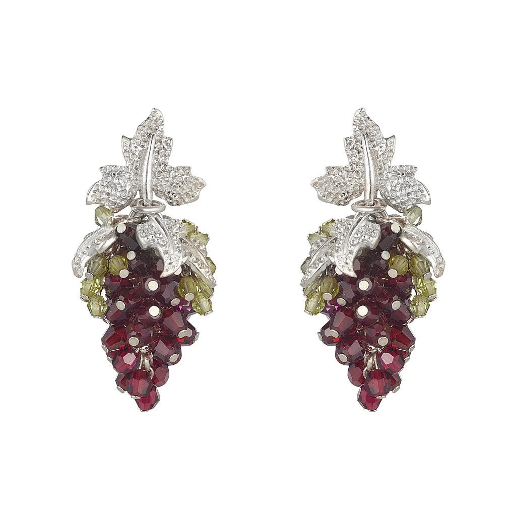 Tuscany Earrings Garnet and Peridot by Tina Ashmore Luxury Jewelry