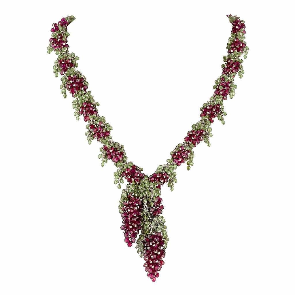 Tuscany Necklace Rhodolite Garnet by Tina Ashmore Luxury Jewelry